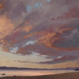 tahoe gold – study | 15 x 26 in. oil on canvas | private collection